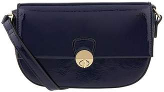 Accessorize Patent Sally Crossbody Bag - Navy