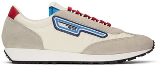 Prada Grey and Off-White Sport Sneakers