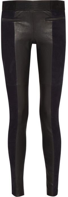Isabel Marant Idris suede and leather skinny pants