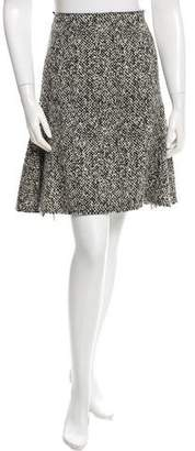 Lanvin Wool Flared Skirt