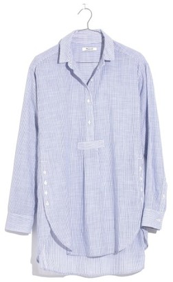 Women's Madewell Stripe Side Button Popover Shirt $79.50 thestylecure.com