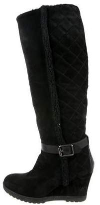 Aquatalia Suede Knee-High Boots