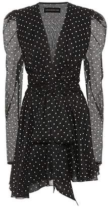 Alexandre Vauthier Polka-dot printed cotton minidress