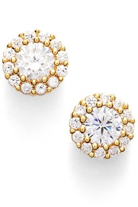Women's Nordstrom Precious Metal Plated 0.50Ct Tw Cubic Zirconia Stud Earrings $48 thestylecure.com