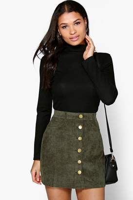 boohoo Lacey Turtle Neck Rib Knit Jumper