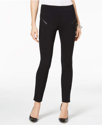 INC International Concepts I.n.c. Curvy-Fit Skinny Moto Pants, Created for Macy's