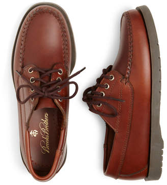 Brooks Brothers Boys Lace-Up Moccasin Shoes