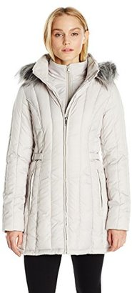 Nautica Women's Puffer Coat with Side Tabs $43.31 thestylecure.com