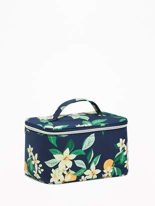 Old Navy Printed Zip-Top Canvas Cosmetic Case for Women