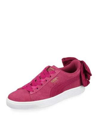 Puma Women's Basket Suede Bow Sneakers