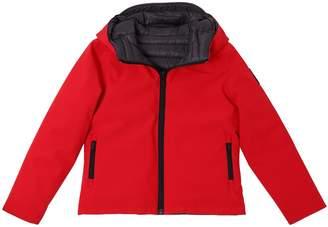 Reversible Hooded Nylon Puffer Jacket