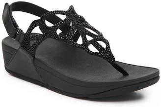ada979b1813ecf FitFlop Black Wedge Heel Women s Sandals - ShopStyle