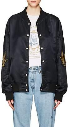 ADAPTATION Women's Appliquéd Satin Bomber Jacket