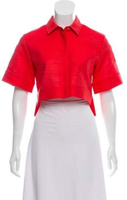 Marina Moscone Collared Crop Shirt w/ Tags