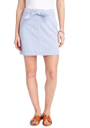 759db3fe8f2 Vineyard Vines Seersucker Tie Front Skirt