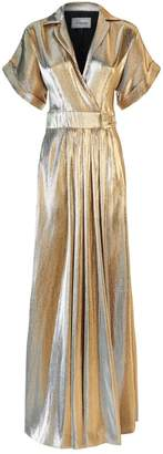 Temperley London Liquid Metal Wrap Gown