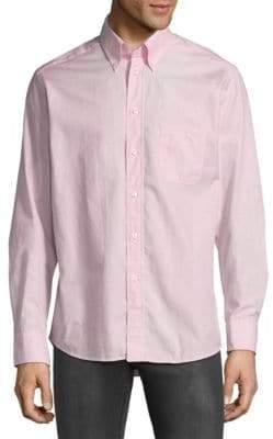 Eton Stripe Long Sleeve Casual Button-Down Shirt