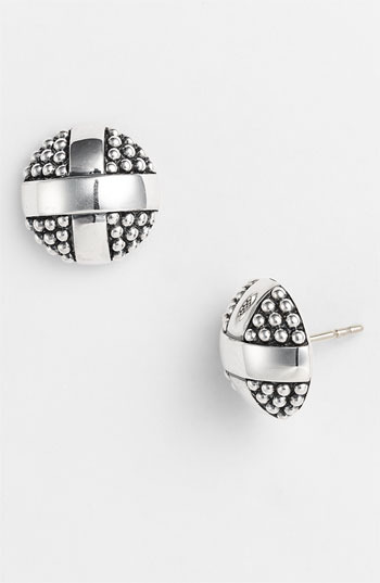 Lagos 'X' Round Stud Earrings