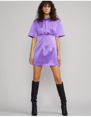 Cynthia Rowley Rush Stretch Satin Mini Dress