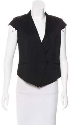 Helmut Lang High-Low Wool Vest