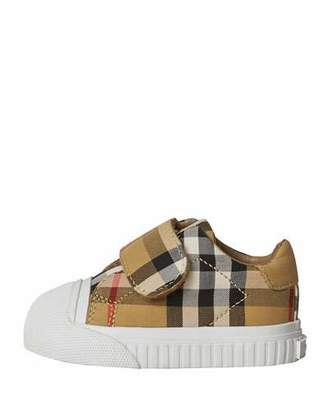 Burberry Beech Check Sneakers with White Sole, Infant/Toddler Sizes 3M-5T