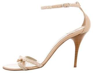 Barneys New York Barney's New York Woven Bow-Accented Sandals
