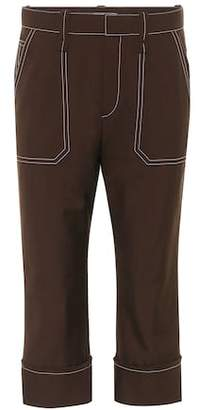Chloé Wool-blend cropped trousers