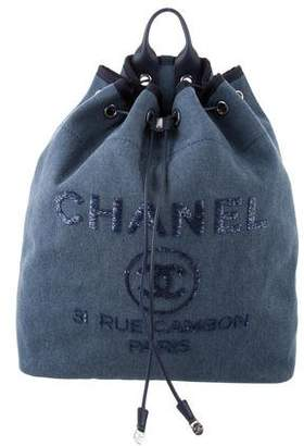 327c1c09e245 Chanel 2017 Canvas Deauville Backpack