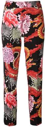 P.A.R.O.S.H. dragon print cropped trousers
