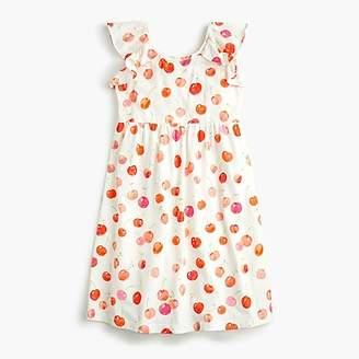 J.Crew Girls' flutter-sleeve dress in cherry print