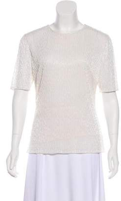 Jason Wu Beaded Short Sleeve Top