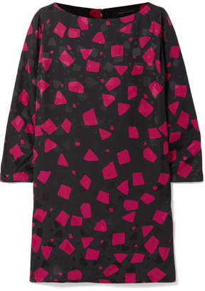 Marc Jacobs Printed Crepe-jacquard Mini Dress - Black