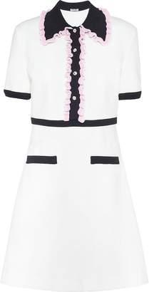 Miu Miu ruffle trims jersey dress