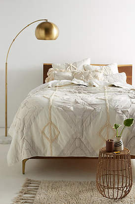 Anthropologie Tufted Banksia Quilt