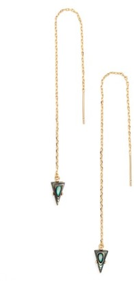 Women's Jules Smith Triangle Gem Threader Earrings $55 thestylecure.com