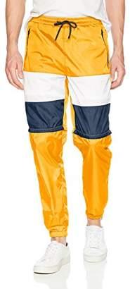 Southpole Men's Colorblock Athletic Wind Pants