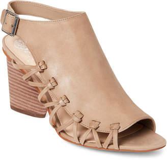 Vince Camuto Taupe Ankara Cutout Slingback Sandals