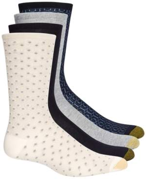 Gold Toe 4-Pk. Geo Repeat Crew Socks