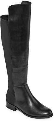 Andrew Geller Womens Enzie Dress Boots Block Heel Zip