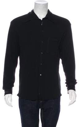 Armani Collezioni Knit Button-Up Shirt