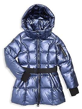 08a88a3f9 Little Girl's Soho Belted Down Puffer Jacket