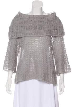 Robert Rodriguez Open Knit Lightweight Sweater