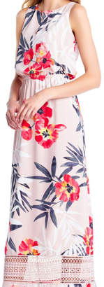 Adrianna Papell Floral Maxi Sheath