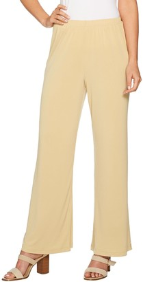 Joan Rivers Classics Collection Joan Rivers Regular Length Pull-on Jersey Knit Palazzo Pants
