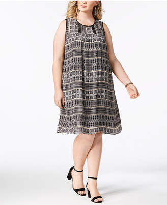 John Paul Richard Plus Size Printed Shift Dress