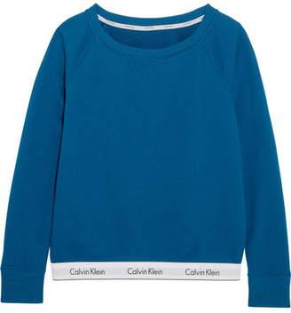 Calvin Klein Underwear Cotton-blend Jersey Sweatshirt - Blue