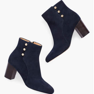 Talbots Lilia Side-Button Booties - Suede