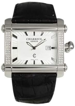 Charriol Actor Cchxld.791.hx001 Stainless Steel & Diamonds Quartz 39mm Mens Watch