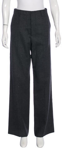 Miu MiuMiu Miu Wool-Blend Wide-Leg Pants
