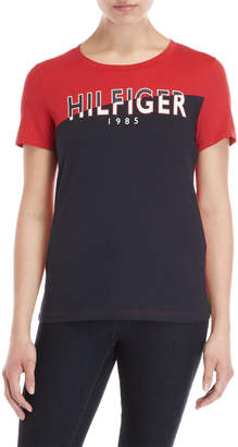 8e7a17e38 Tommy Hilfiger Red Women's Tees And Tshirts - ShopStyle